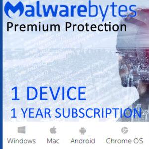 Malwarebytes Premium Security (1 Device – 1 Year)