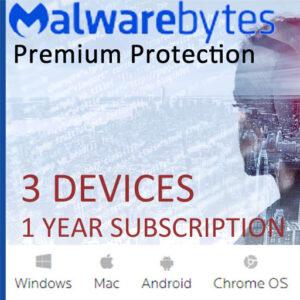Malwarebytes Premium Security (3 Devices – 1 Year)